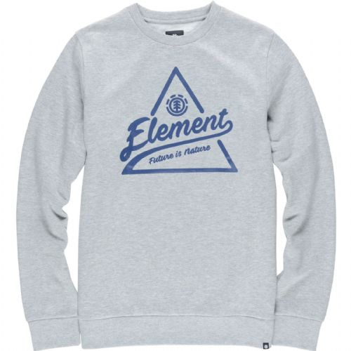 ELEMENT MENS CREW JUMPER.ASCENT GREY SKATER SWEAT SHIRT LONG SLEEVED TOP.7W A3 9